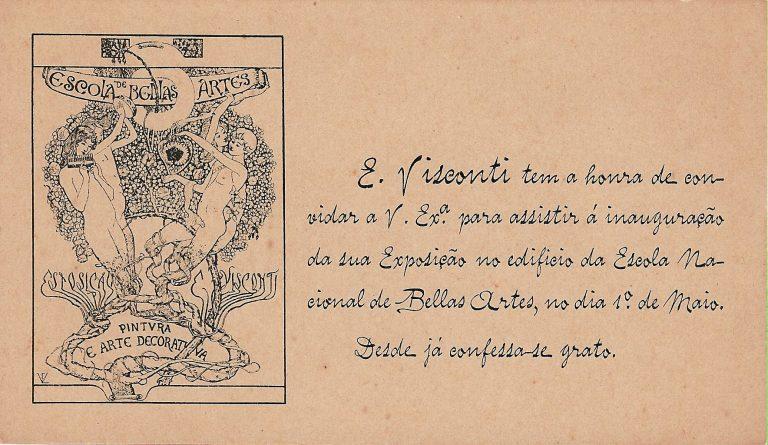 CONVITE EXPOSIÇÃO DE 1901