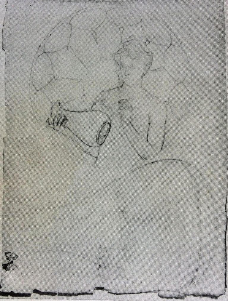 ESTUDO PARA VASO E PRATO - LÁPIS SOBRE PAPEL - 63,0 x 48,0 cm - c.1902 - LOCALIZAÇÃO DESCONHECIDA