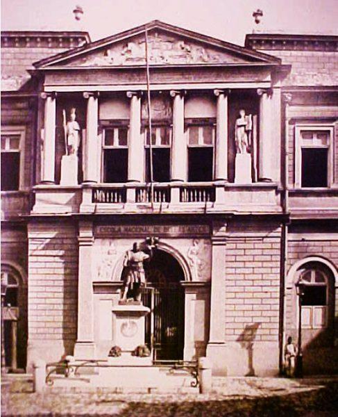 Fachada da antiga Escola de Belas Artes