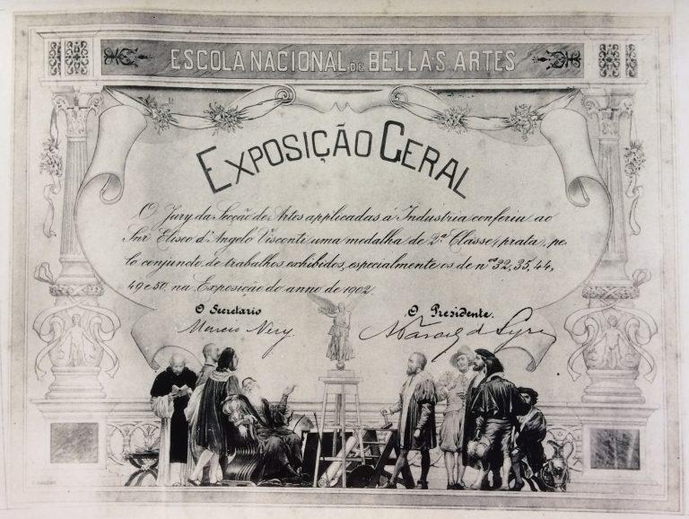 MEDALHA DE SEGUNDA CLASSE PRATA EM 1902 NA ESCOLA NACIONAL DE BELAS ARTES - 9ª EGBA