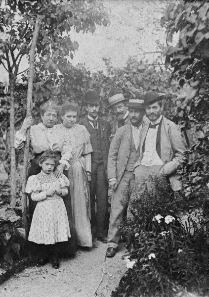 VISCONTI COM ANGELO AGOSTINI E FELIX BERNARDELLI EM PARIS - 1893