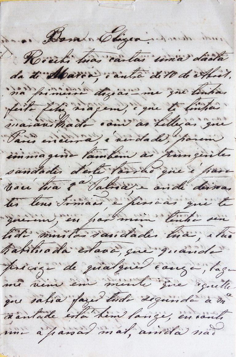 CARTA DA BARONESA A VISCONTI - 1893