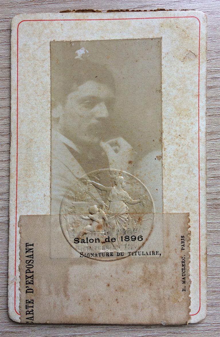 CARTÃO DE EXPOSITOR - 1896