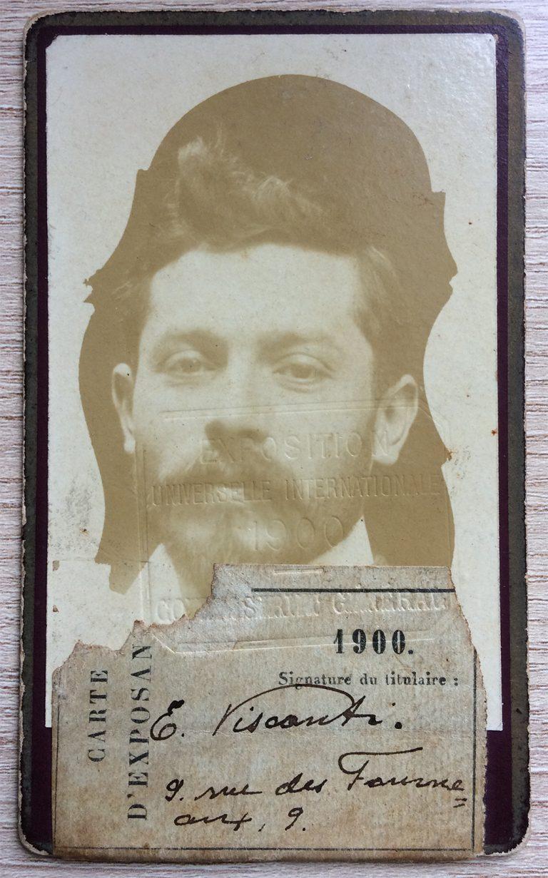 CARTÃO DE EXPOSITOR NA UNIVERSAL DE 1900 - PARIS