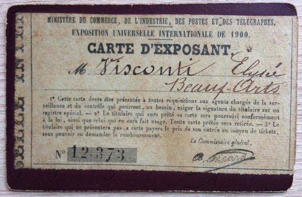 CARTÃO DE EXPOSITOR DE VISCONTI