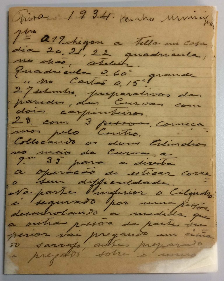CAPA DO CADERNO 5 DO ACERVO DO MUSEU NACIONAL DE BELAS ARTES - 1936