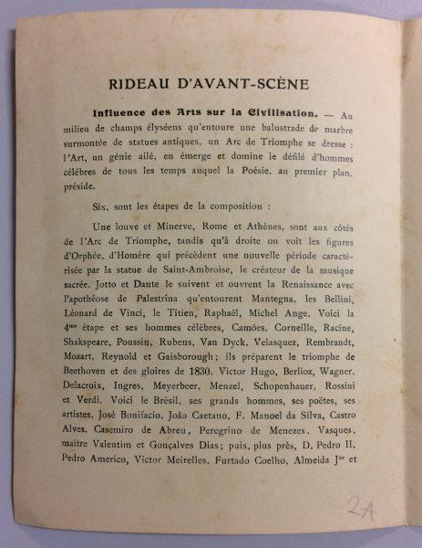 CATÁLOGO PARA A EXPOSIÇÃO DE 1907 EM PARIS - PÁGINA 1