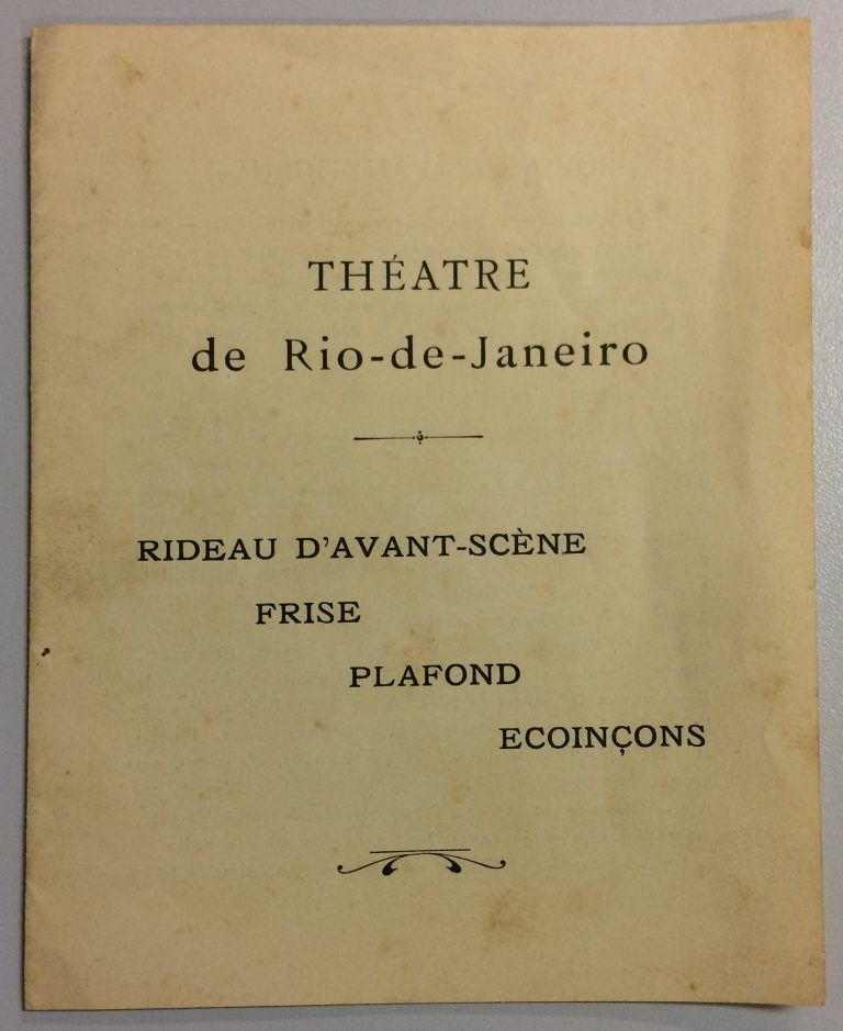 CATÁLOGO PARA A EXPOSIÇÃO DE 1907 EM PARIS