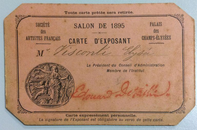 CARTÃO DE EXPOSITOR NO SALON DE LA SOCIÉTÉ DES ARTISTES FRANÇAIS – 1895