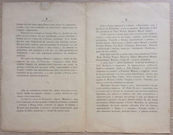 Descrição do pano de boca - Páginas 2 e 3