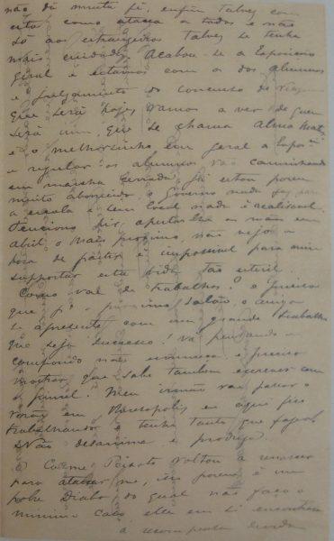 CARTA DE RODOLPHO BERNARDELLI em 10-12-1894 - pag. 2
