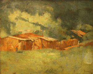 CASAS DE FAVELA - OSC - 25,5 x 31,5 cm - c.1924 - COLEÇÃO PARTICULAR