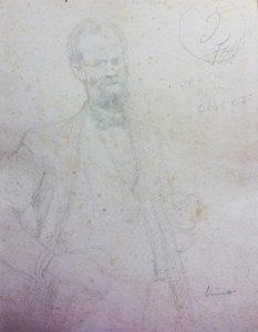RETRATO DO SR. SIMAS - ESTUDO - LÁPIS SOBRE PAPEL - 27 x 21 cm - COLEÇÃO PARTICULAR