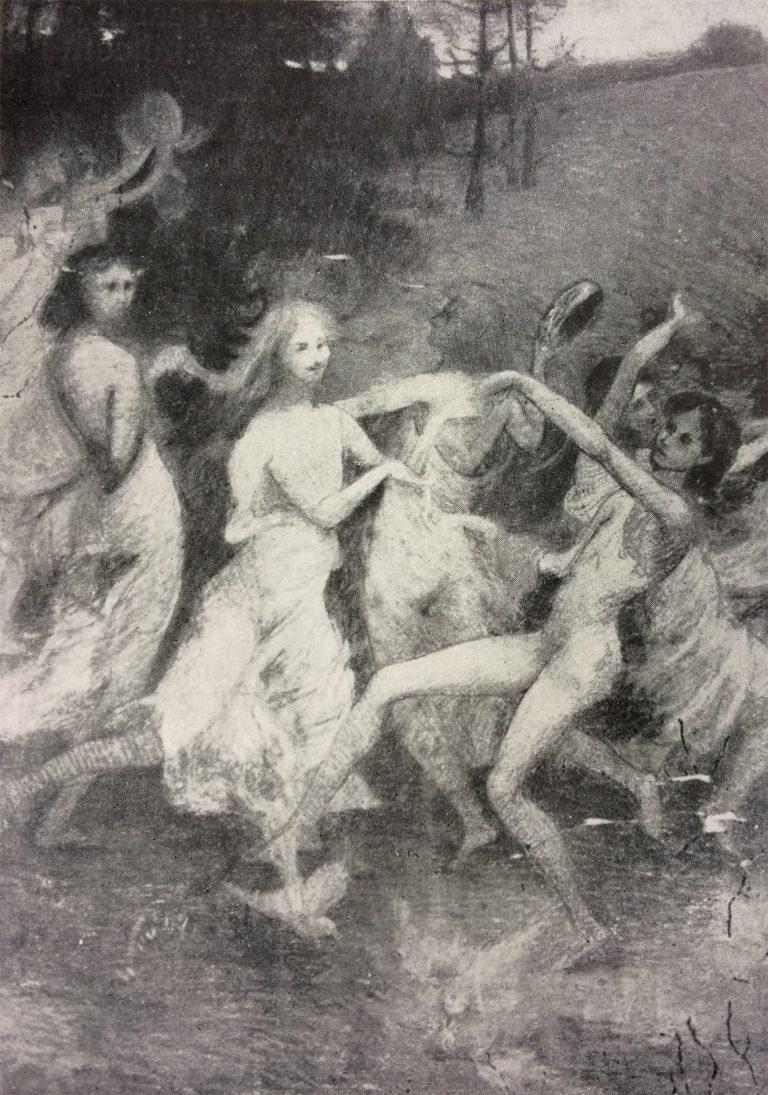 ORÉADAS - ESTUDO - PASTEL - c.1898 - LOCALIZAÇÃO DESCONHECIDA