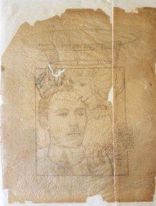 O BEIJO DA GLÓRIA A SANTOS DUMONT - ESTUDO - LÁPIS SOBRE PAPEL VEGETAL - 62 x 47 cm - 1901 - COLEÇÃO PARTICULAR