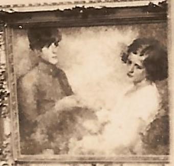 CASAL DE JOVENS - OST - 65 x 80 cm - c.1927 - LOCALIZAÇÃO DESCONHECIDA