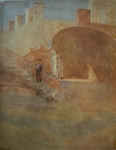 PORTÃO DA COROA - AQUARELA - 29,2 x 23,0 cm - 1904 - MUSEU HISTÓRICO DA CIDADE DO RIO DE JANEIRO