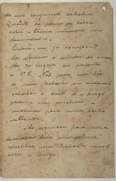 CARTA DE VISCONTI A FRANCISCO OLIVEIRA PASSOS – 1905 – PAG. 3