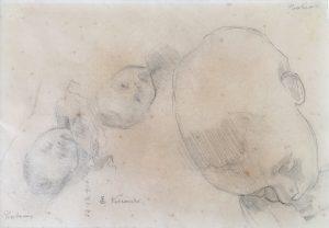 TOBIAS AOS CINCO MESES - CRAYON SOBRE PAPEL - 20,0 x 29,5 cm - 1910 - COLEÇÃO PARTICULAR