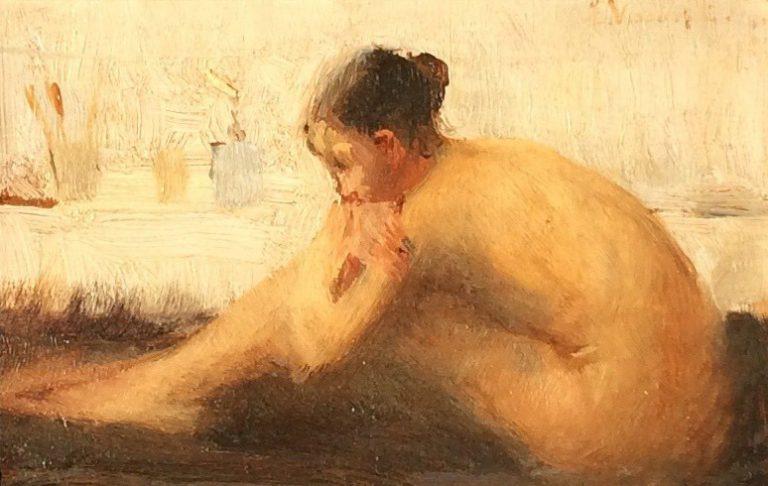 NU FEMININO - OSM - 9,0 x 13,5 cm - c.1905 - COLEÇÃO PARTICULAR