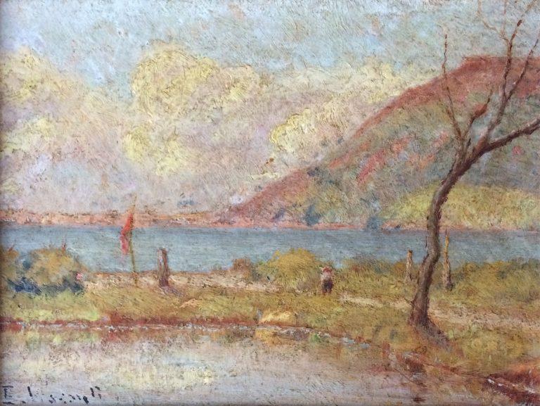 PAISAGEM - OSM - 17,0 x 22,0 cm - c.1910 - COLEÇÃO PARTICULAR