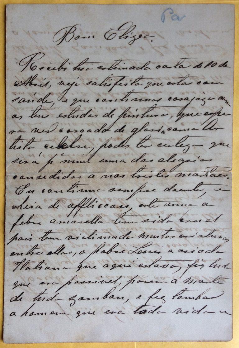 CARTA DA BARONESA DE GUARAREMA A VISCONTI - 16 DE MAIO DE 1893