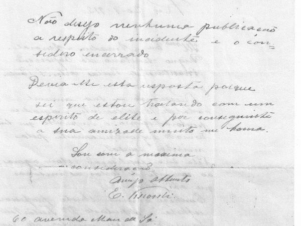 CARTA DE ELISEU VISCONTI A AMADEU AMARAL - PAG. 3
