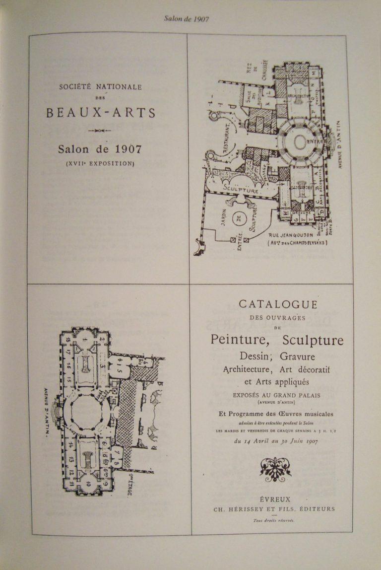 CAPA DO CATÁLOGO DO SALÃO DE PARIS - 1907