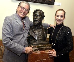 Fernando Bicudo e Ana Botafogo, com Visconti