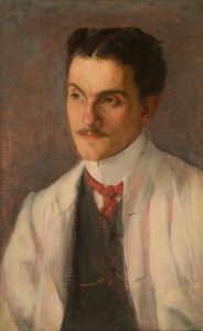 RETRATO DE FIGURA MASCULINA - OST - 59,6 x 37,8 cm - c.1912 - COLEÇÃO PARTICULAR
