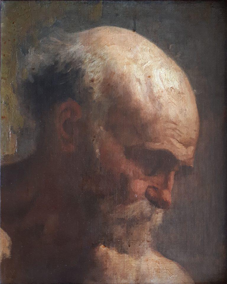 CABEÇA DE HOMEM - OSC - 35.0 x 28,0 cm - c.1901 - COLEÇÃO PARTICULAR