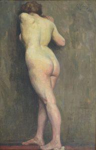 NU FEMININO DE COSTAS - OST - 81,1 x 52,5 cm - 1894 - COLEÇÃO PARTICULAR