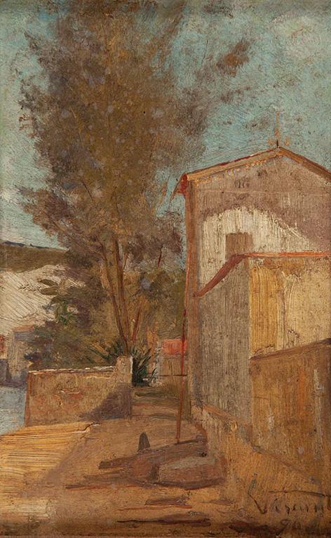 FUNDO DE QUINTAL EM SÃO CRISTÓVÃO - OSM - 21,0 x 13,0 cm - 1890 - COLEÇÃO PARTICULAR