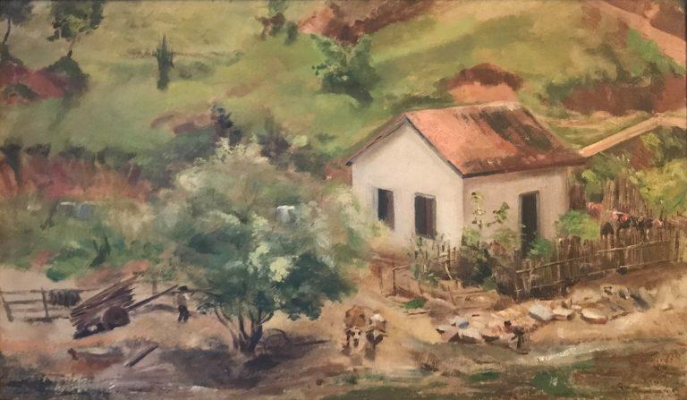 PAISAGEM DE SÃO JOSÉ D'ALÉM PARAÍBA - OSM - 36,0 x 60,0 cm - 1888 - COLEÇÃO PARTICULAR -