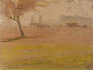 COLHEITA DO TRIGO - OSM - 23,7 x 31,7 cm - c.1918 - COLEÇÃO PARTICULAR