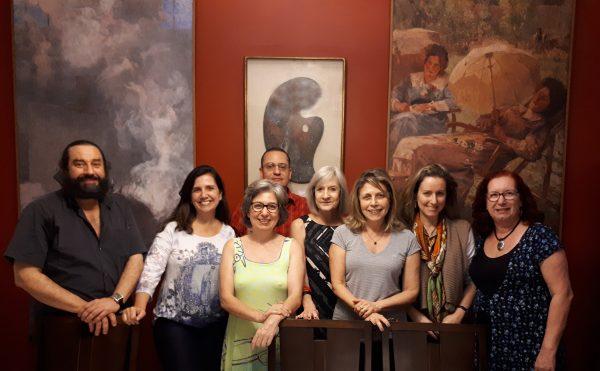 Da esquerda para a direita: Ivan Coelho de Sá, Mônica Dias, Ana Cavalcanti, Arthur Valle, Christina Penna, Isabel Visconti, Leticia Visconti Hirth e Mirian Seraphim