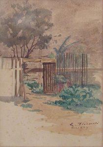 CHÁCARA NO ANDARAÍ - AQUARELA - 24,0 x 16,0 cm - 1924 - COLEÇÃO PARTICULAR