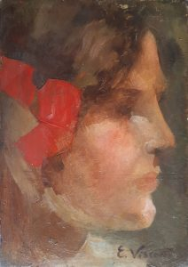 RETRATO DE YVONNE - OSM - 18,2 x 12,8 cm - c.1909 - COLEÇÃO PARTICULAR
