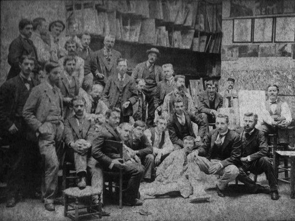 Visconti na Academia Julian – Primeiro à direita - 1893