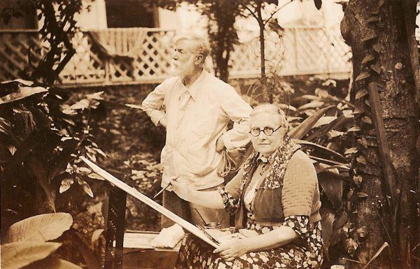 Visconti pintando com Louise