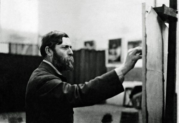 Visconti em seu atelier da Rue Didot – Paris – 1913