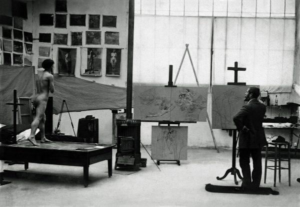 No atelier da Rue Didot com os estudos do foyer – 1913