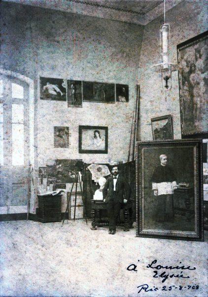 Foto de Eliseu Visconti dedicada a Louise - 1908