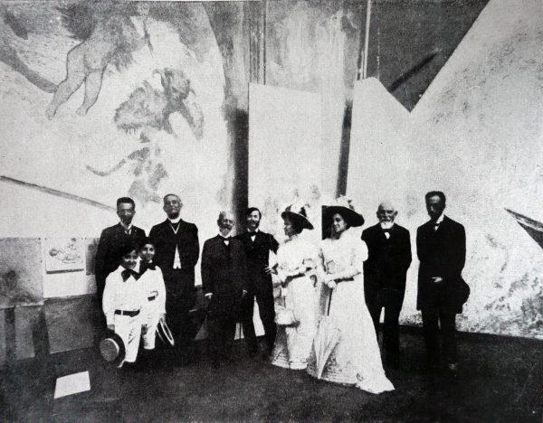 Rodrigues Alves no ateliê de Visconti em Paris - 1907
