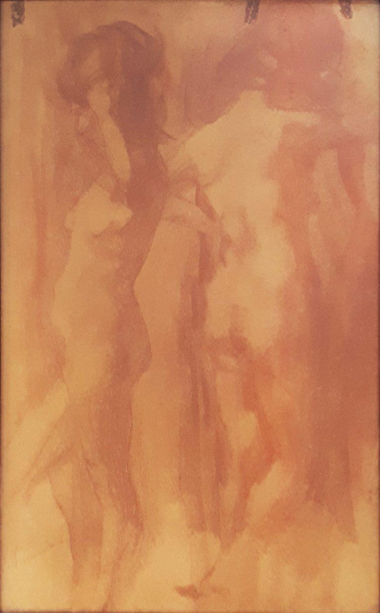 NUS FEMININOS - SANGUÍNEA - 43,5 x 23,3 cm - c.1900 - COLEÇÃO PARTICULAR