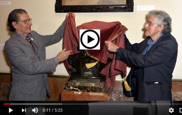 Vídeo-documentário sobre a reinauguração do busto em 2018