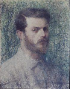 AUTORRETRATO - PASTEL - 41,0 x 33,0 cm - c.1898 - COLEÇÃO PARTICULAR