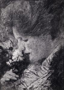 RETRATO DE YVONNE - OST - 37 x 27 cm - c.1922 - LOCALIZAÇÃO DESCONHECIDA