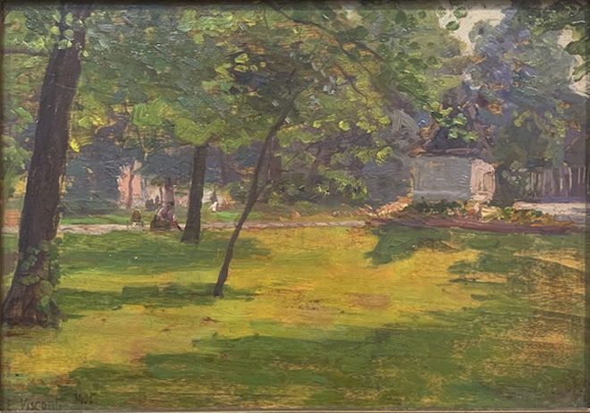 JARDIM DO LUXEMBURGO - OSM - 20,0 x 30,0 cm - 1905 - COLEÇÃO PARTICULAR