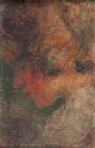 PERFIL DE LOUISE - OST - 30,0 x 19,0 cm - c.1907 - COLEÇÃO PARTICULAR